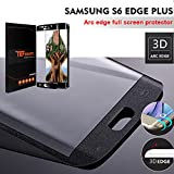Verre Trempé Galaxy S6 Edge Plus, TEFOMATE Verre Trempé Protection Ecran Full Glass Screen Protector pour Samsung Galaxy S6 Edge Plus 5.7' [Curved 3D] (Black)