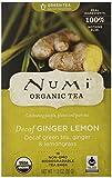 Numi Organic - té verde descafeinado jengibre limón - 16 bolsitas de té