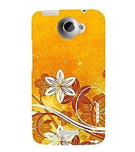 Fantastic Floral Pattern 3D Hard Polycarbonate Designer Back Case Cover for HTC One X