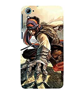 For HTC Desire 826 Dual Sim man with sword ( man with sword, sword, man, sword ) Printed Designer Back Case Cover By CHAPLOOS