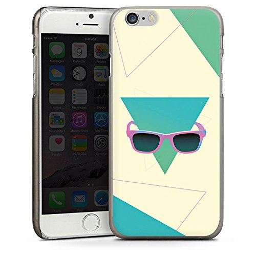 Apple iPhone 4 Housse Étui Silicone Coque Protection Hipster Triangle Triangle CasDur anthracite clair