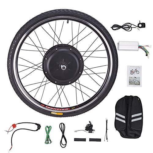 CO-Z 26 Zoll 48V 1000W Elektrisches Fahrrad-Umbausatz E-Bike Conversion Kit Elektrofahrrad Motor Umbausatz Vorderrad Hinterrad (Vorderrad)