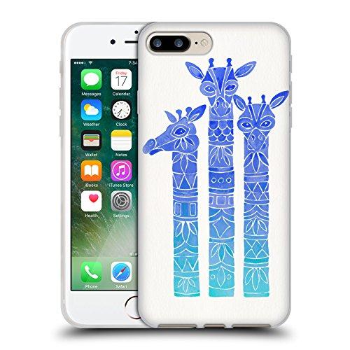 Offizielle Cat Coquillette Dackel Tiere Soft Gel Hülle für Apple iPhone 5 / 5s / SE Blau Ombre Giraffen