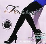 2 x Panty FOSSAY ultrasuaves, fuertes, para uso cotidiano, Womens Sexy de color negro leggins pantalones mallas, térmicas para invierno - Talla única (FW-808)