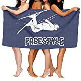 YSEFHX Unisex Freestyle Skier Beach Towels Washcloths Bath Towels for Teen Girls Adults Travel Towel Pool and Gym Use 31x51 inches