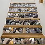 YSFU Wandsticker Hut 6 Stücke 3D Treppenhaus Aufkleber Wasserfall Treppen Aufkleber Herbst Boden Wand Dekor Aufkleber Aufkleber Wohnzimmer Dekoration