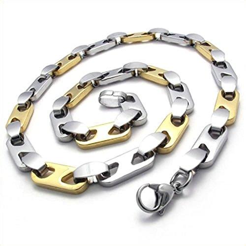 Daesar Edelstahl Halskette Herren Anhänger Halskette Link (Echte Handtasche Leder Usa)
