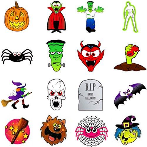 - Tattoo Set für Kinder ┃ Halloween ┃ Kinder ┃ Tattoos ┃ 12 Stück (Halloween Hexenkessel-spiel)