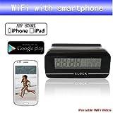 Mengshen® Cámara inalámbrica Wifi HD Reloj Digital para Android iPhone Video Vigilancia MS-WH12