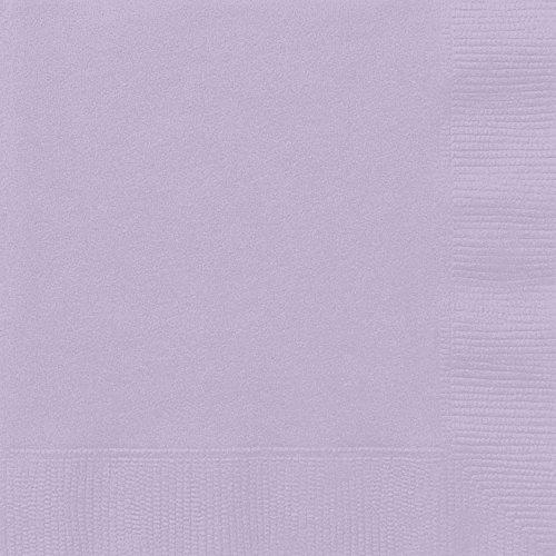 Unique Party Supplies Papierservietten, 16,5 cm, Lavendel, 50 Stück