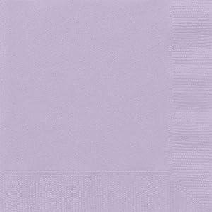 Unique Party- Paquete de 20 servilletas de papel, Color lavanda, 13 cm (31351)
