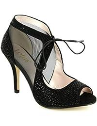 Lotus Vainilla Negra Microfibra Diamante Calzado-botas 5 pkMgkn