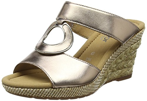 Gabor Shoes Damen Comfort Sport Pantoletten, Mehrfarbig (Rame (Bast), 43 EU