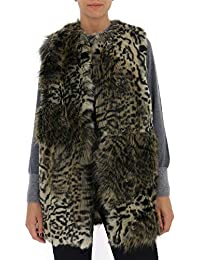 Stella McCartney 531529SLB058485 Mujer Leopardo Ecopiel Abrigo