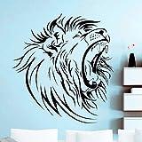 jiushizq Populaire Afrique Sauvage Tête De Lion Autocollant Mural Art Home Room...