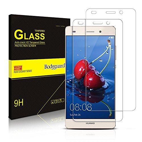 [2 Stück] Schutzfolie für Huawei P8 Lite, Bodyguard Panzerglas Displayschutzfolie 9H Hartglas für Huawei P8 Lite 2015/2016 5.0 Zoll (Transparente), Anti-Kratzen, Anti-Öl, Anti-Bläschen (Super Behandeln Fleck)
