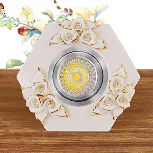 led-ceramique-fleurs-plafonniers-salon-europeen-allee-balcon-couloir-lampes-de-plafond-spots