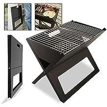 DABUTY, SL Barbacoa portatil Grill Cahors Jardin 3kg Plegable Color Negro