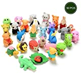 30PCs Animal Rubber Toy Set, Food Grade Material TPR for Kids, Party Favors, Gift Educational Animals Toys