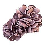 La fleur de simulation Pinces à cheveux décorations de cheveux (Violet)...