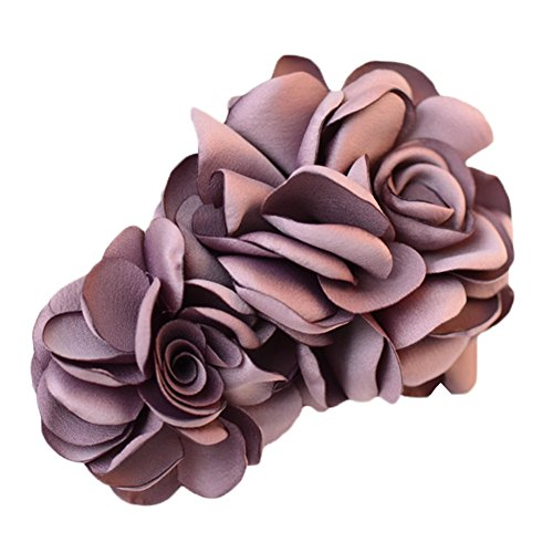 La fleur de simulation Pinces à cheveux décorations de cheveux (Violet)