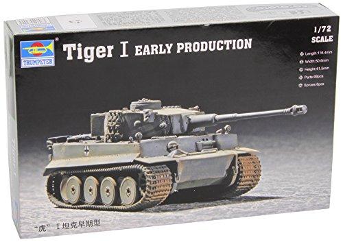 Faller trumpeter 07242 - modellino da costruire, carro armato pesante tiger 1, in scala 1:72