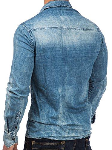 Tazzio - Chemise casual - Homme Bleu - Bleu