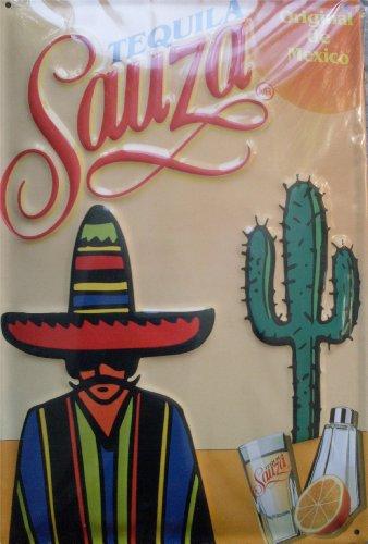 Tequila Sauza - Original de Mexiko Blechschild Nostalgieschild - 30 x 20 cm schwere Qualität Original U.S.A.