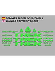 PEGATINAS STICKERS TREK FUEL EX 9.9 BIKES F144 STICKERS AUFKLEBER DECALS AUTOCOLLANTS ADESIVI MTB BTT (VERDE)