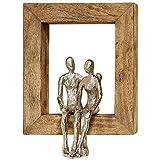 Home Collection Metall Wandobjekt Wandbild mit Holzrahmen Liebespaar Paar 30cm