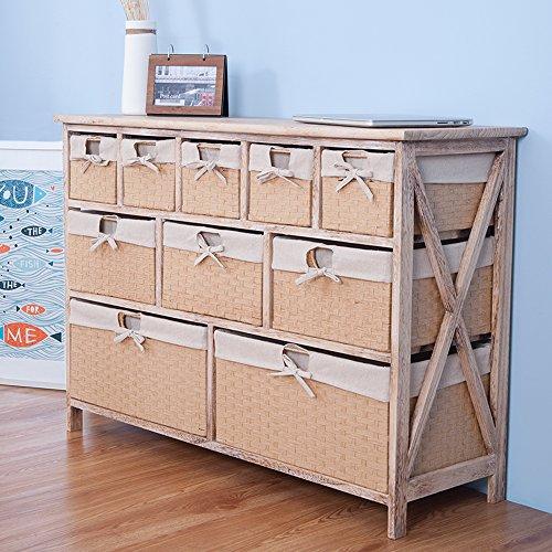 Life Carver FULLY ASSEMBLED 10 Drawer Baskets Wide Functional Storage ...