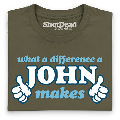 What A Difference A John Makes T-Shirt, Herren Olivgrn