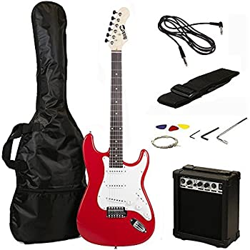 stretton payne 1 2 size electric guitar with practice amplifier padded bag strap lead. Black Bedroom Furniture Sets. Home Design Ideas