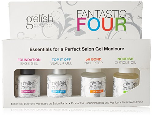 Harmony Gelish - Kit per manicure da salone (4 pezzi x 15 ml)
