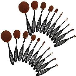 110OVBRSH10 New 2016 Pro Balance Soft Hair Oval Makeup Brush Sets Smooth Cosmetics Wow Artis Toothbrush Brushes Foundation Eyeshadow Eyeliner Lip Contour Kit, 20 Piece