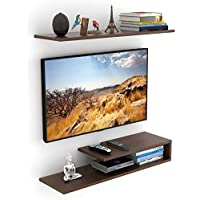Bluewud Kunsua TV Entertainment Unit/Wall Set Top Box Stand Shelf (Standard Wenge)
