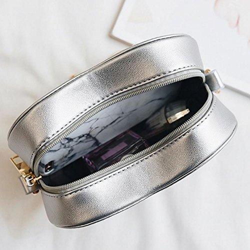 Millya , Damen Umhängetasche, silberfarben (Silber) - bb-00353-01 silberfarben