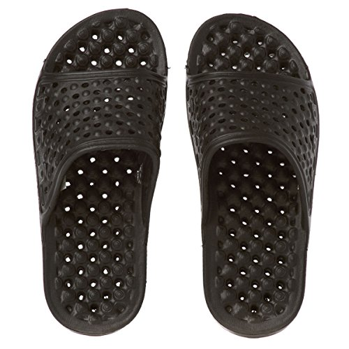 Trespass Mens Somoma Water Draining Slide Sandals Noir