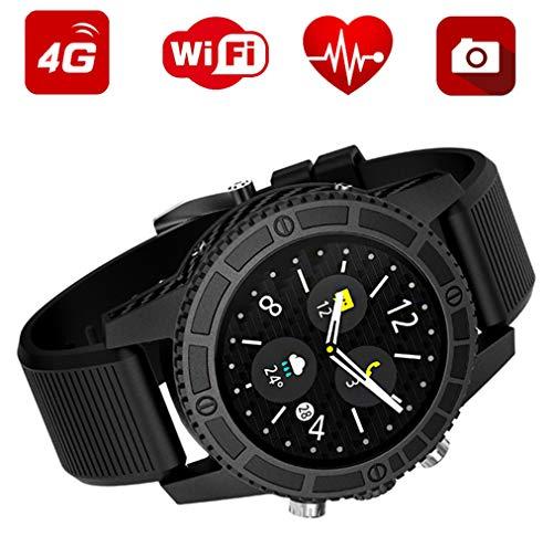 J.W. Bluetooth Smart Uhr Android 7.0, Blutdruck Pulsmesser Fitness Tracker Wasserdicht Sportmodus Wearable Smartwatch für IOS, schwarz