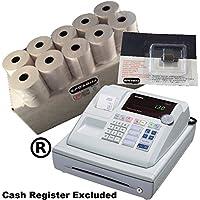 EPOSBITS® Brand 20 Rollos + 1x Tinta para Casio 130CR 130 CR Cash Register