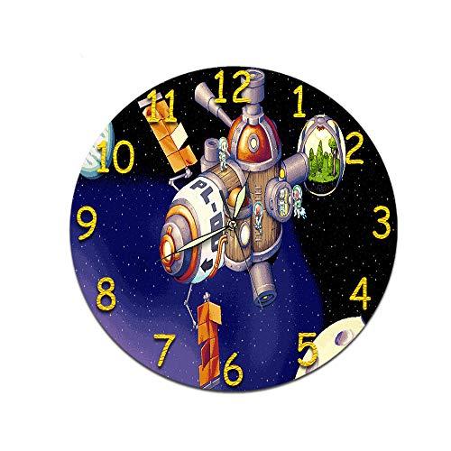 LUOYLYM Geschenk Uhr Wanduhr Acryl Mute Movement Clock Wandaufkleber Clock Borderless Wecker M-042 (Luminous Pointer) 28CM