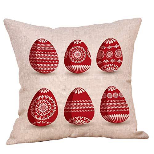 Xmiral Kissenbezüge Pillowcase Bettwäsche aus Baumwolle Zierkissenbezüge Strichmännchen Drucken 45cm×45cm(I)