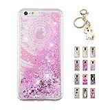 Kawaii-Shop Coque iPhone XS Max Glitter Liquide, Cute Mandala Rose TPU Silicone Case...