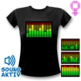 10-Kanal LED Equalizer T-Shirt Frau