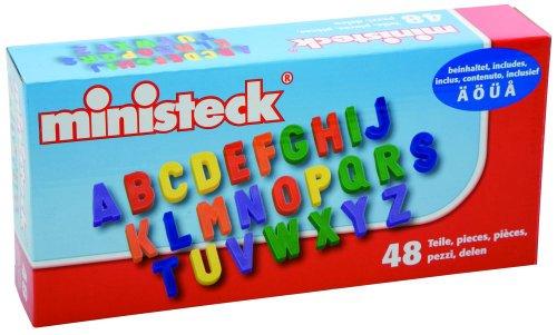 Ministeck 33714 - 48 Magnet Grossbuchstaben (Abc-großbuchstaben Alphabet-magnete)