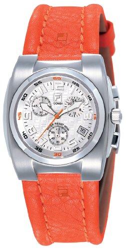 Fila FA0500-72 - Reloj analógico de cuarzo para hombre con correa de piel, color naranja