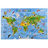 Amagenius world map floor puzzles for both table and floor with extra thick pieces