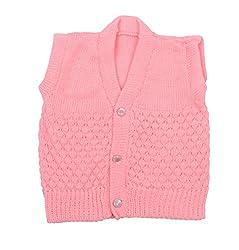 Baby Woolen Vest (Pink, 0-6 Months)