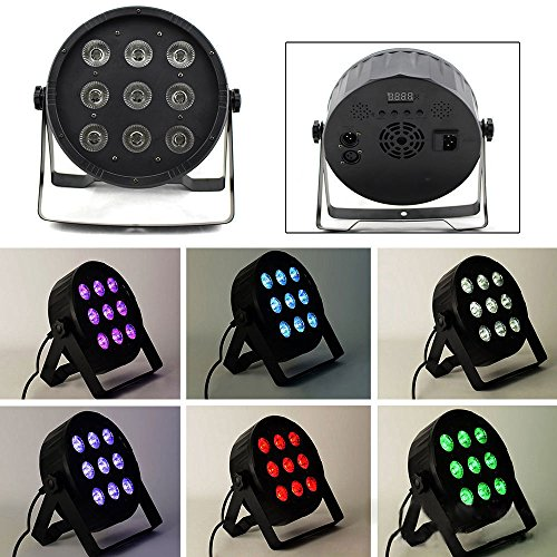 4 in 1 RGBW LED PAR 64 DMX 512 Scheinwerfer 9x10W Spot Wash Floorspot DJ Licht