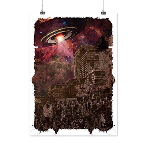 Kostüme Klon Armee (Armee Toter Mann UFO Zombie Tot Monster Mattes/Glänzende Plakat A3 (42cm x 30cm) |)